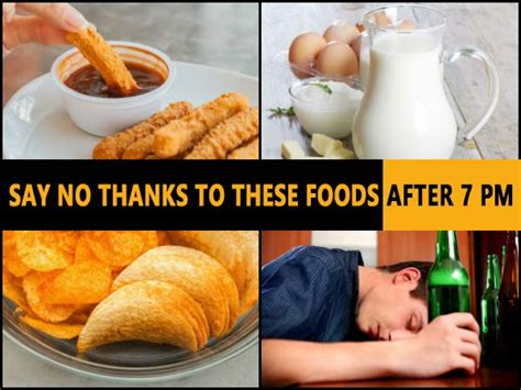 Say No Thanks why you should say no thanks to these foods after 7 pm boldsky