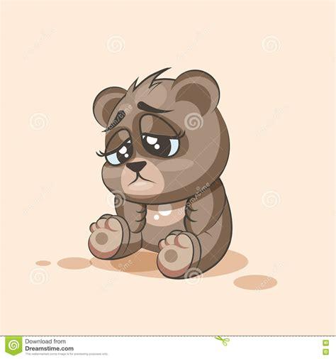 imagenes osito llorando emoji charakterkarikatur b 228 r trauriger und frustrierter