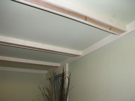 Ceiling Beams Faux by Small Space Ceiling With Beams