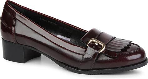 carvela loafers carvela kurt geiger lullaby leather loafers in wine