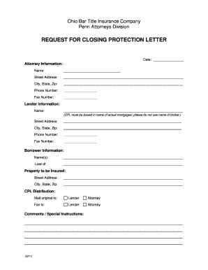 Closing Protection Letter Kentucky Closing Protection Letter Cpl Or Insured Closing Letter Xxo0jgsh Adanih