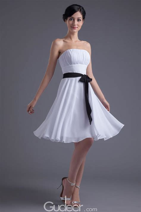 collections of white dress with black belt wedding ideas