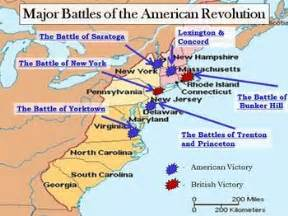 the battles of the revolutionary war map social studies