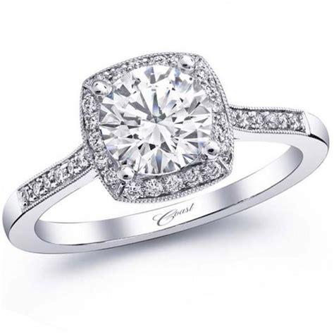 ben garelick jewelers 183 coast cushion halo thin milgrain
