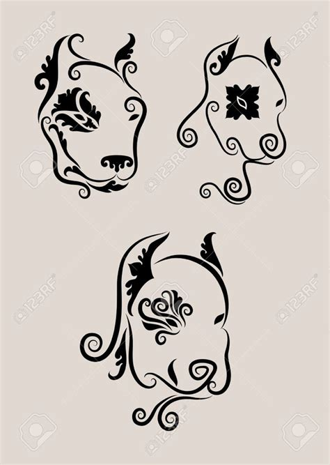 pitbull tattoo design awesome pit bull or american staffordshire terrier
