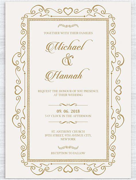 contoh invitation card wedding formal contoh invitation card wedding gallery invitation sle and invitation design