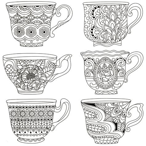 tea coloring pages stacked tea cups coloring pages sketch coloring page