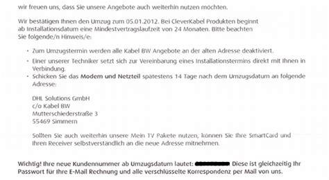 Vorlage Kündigung Arbeitsvertrag Wegen Umzug 196 Rger Mit Kabel Bw K 252 Ndigung Internetrecht Edv Recht Fernabsatz Forum 123recht Net