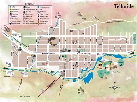 town map telluride town map telluride co mappery