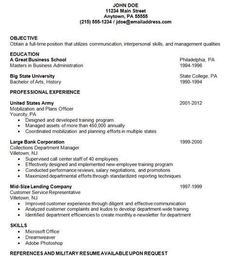 what is reverse chronological order resume