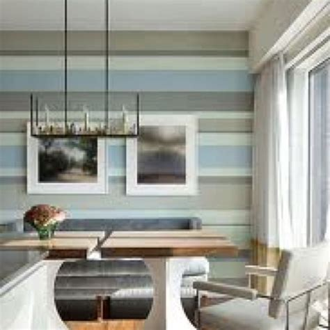 blue striped walls grey taupe and blue striped wall is like a piece of art