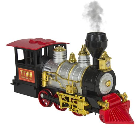 424787 toy trains christmas parts classic train set for kids with real smoke music and