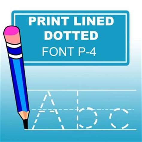 print lined font with this abc print dotted lined font especially designed