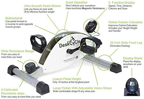 desk bike pedals calories burned deskcycle desk exercise bike pedal exerciser white top