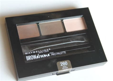 maybelline brown brow drama pro palette review