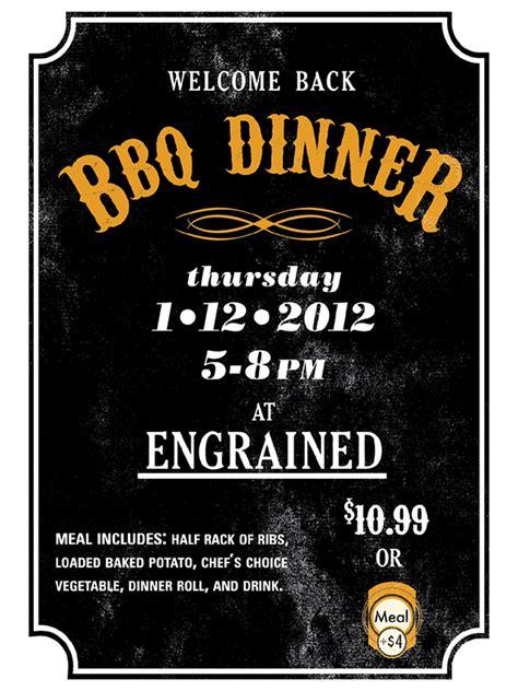 dinner poster welcome back bbq dinner poster on behance
