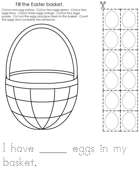 worksheets for preschool easter a child s place march 2012