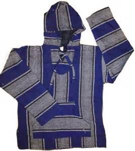 Rug Sweatshirt by Mexican Threads 187 Surfer Baja Hoodie Rug