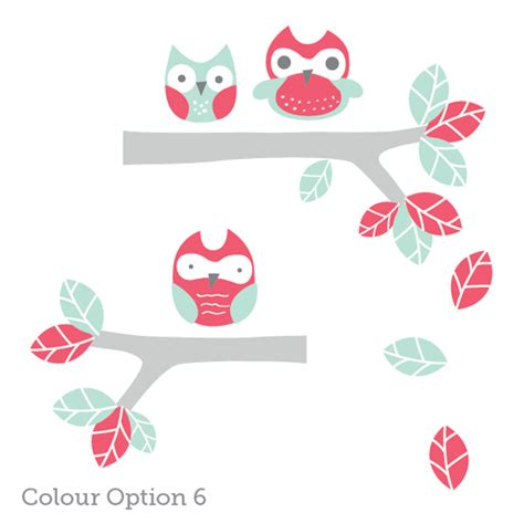 owl wall stickers owl wall decals for nursery