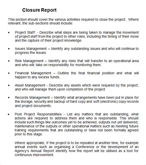 Project Closure Report Template 9 Free Word Documents Download Free Premium Templates Project Closure Report Template Ppt