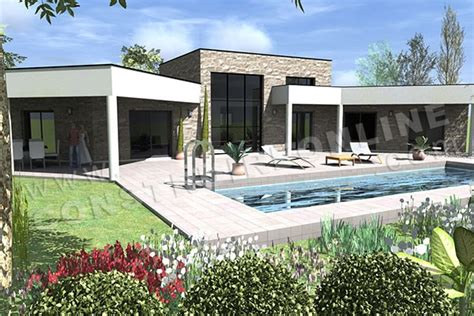 Plan Maison Contemporaine Avec Piscine by Plan De Maison Contemporaine Amazone