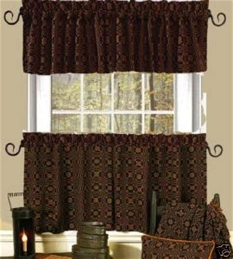primitive fabric for curtains lovers knot primitive fabric valance curtain 72 quot x 15 5 quot lined