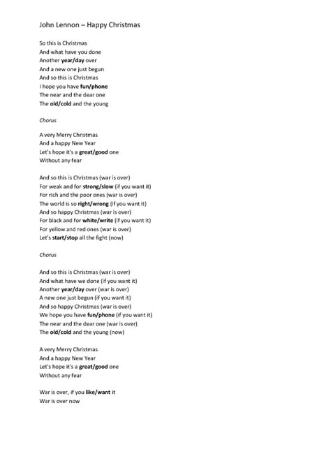 testo so what song worksheet happy by lennon