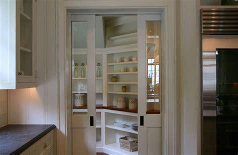 pantry  pocket doors transitional kitchen