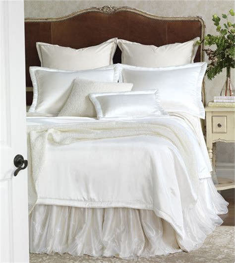 satin coverlets bedspreads silk charmeuse bedding coverlets white ivory bronze
