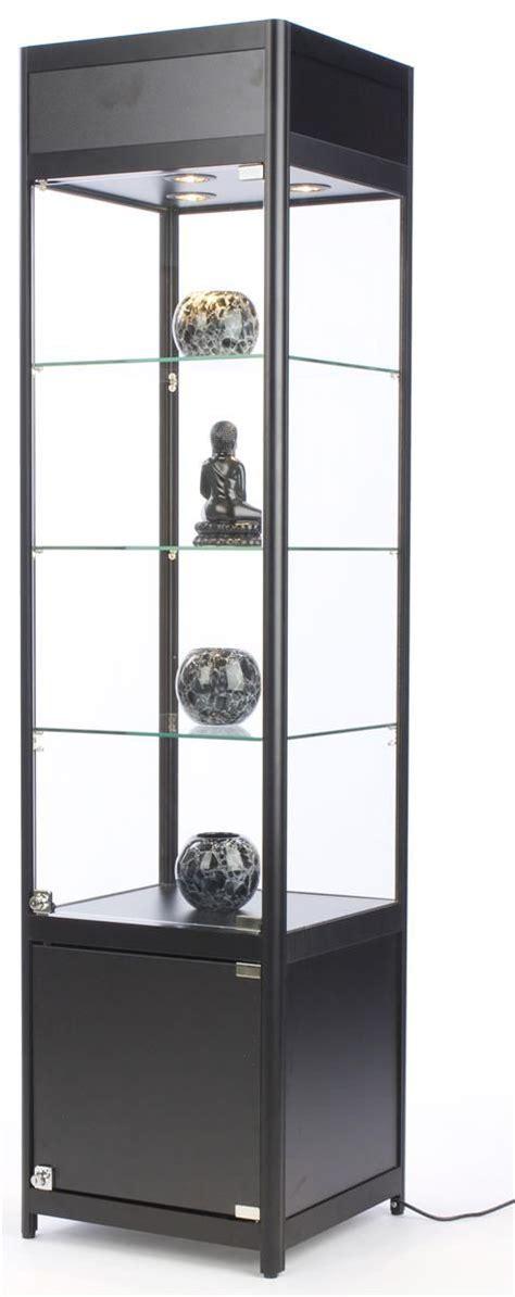 tempered glass cabinet shelves 18 quot diy display w cabinet base adjustable shelves