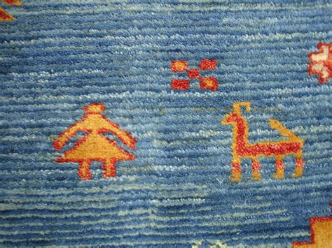 What Is A Gabbeh Rug by Qashqai Gabbeh Rug In A Blue Field With Madder And Yellow