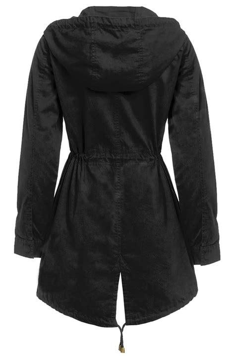 Jaket Parka Cotton Twill new womens canvas mac jacket cotton twill hooded fish