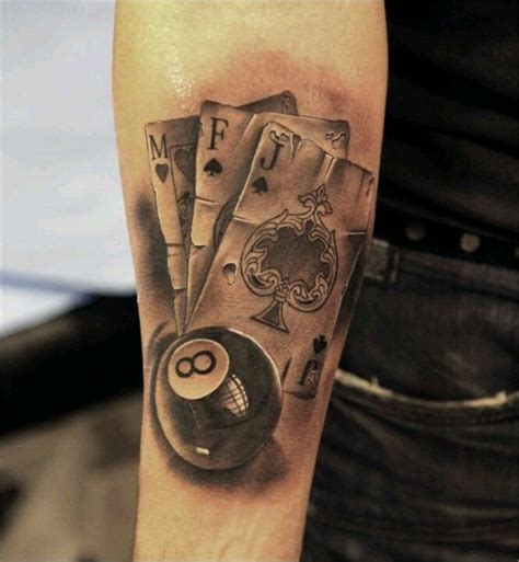 poker card tattoos designs cool tattoos