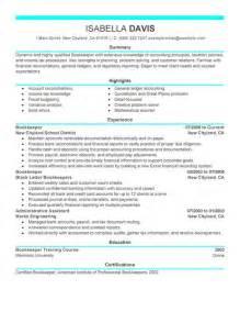 Sample Bookkeeping Resume Best Bookkeeper Resume Example Livecareer