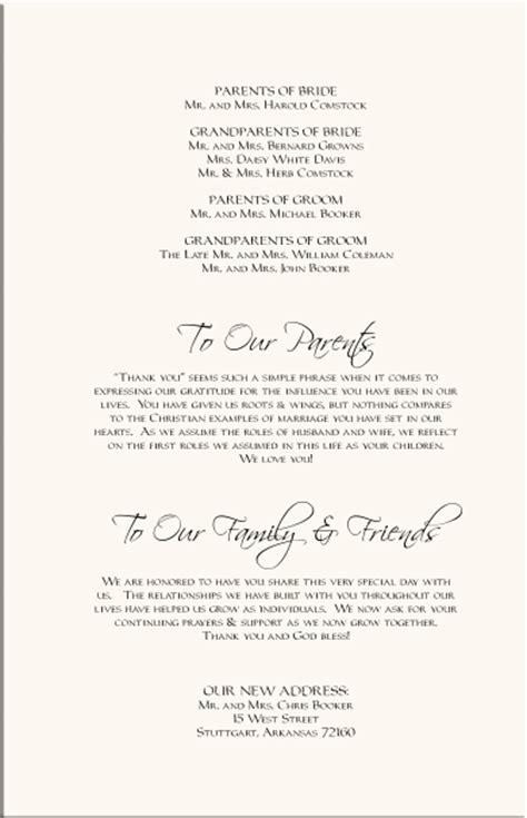 the design of wedding program thank you wording criolla thank you wording for wedding programs wedding program ve
