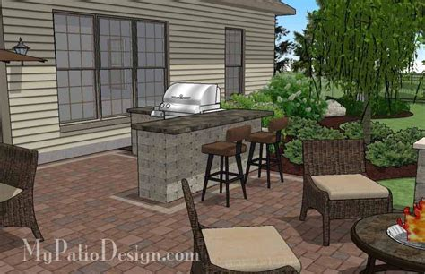 Creative Patio by Creative Backyard Patio Design With Seating Wall 525 Sq