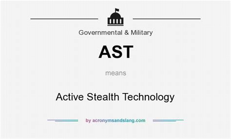 ast active stealth technology in government amp military
