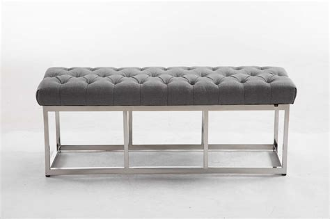 Bench Amun E Tweed Visitor Benches Padded Home Bench For