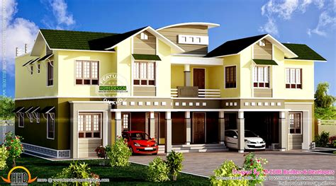top duplex homes on duplex house elevation kerala home