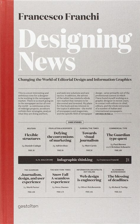 designing news changing the world of editorial design and information graphics francesco