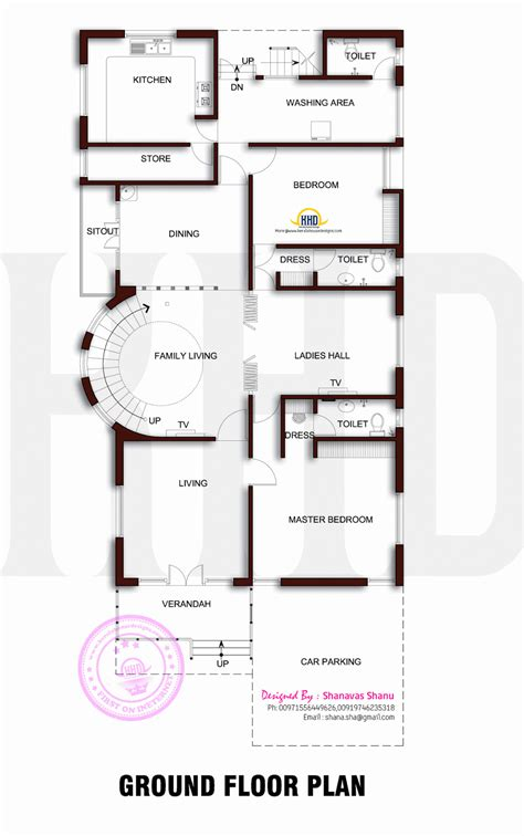 ground floor and floor plan beautiful contemporary home plan home kerala plans