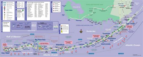 printable map key west map of the florida keys