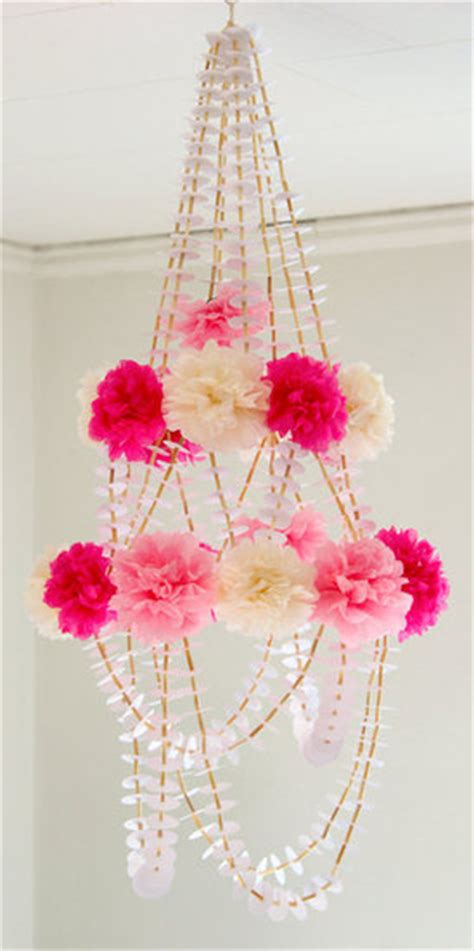 Diy Party Decorations Paper Flower Beads Chandelier Paper Flower Chandelier