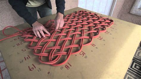 how to make a rug out of rope rope weaving clinic