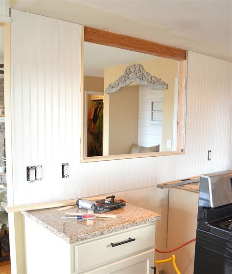 kitchen pass through kitchen remodel update the pass through is done