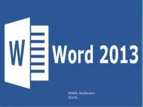 Microsoft Word 2013 Ms Word 2013