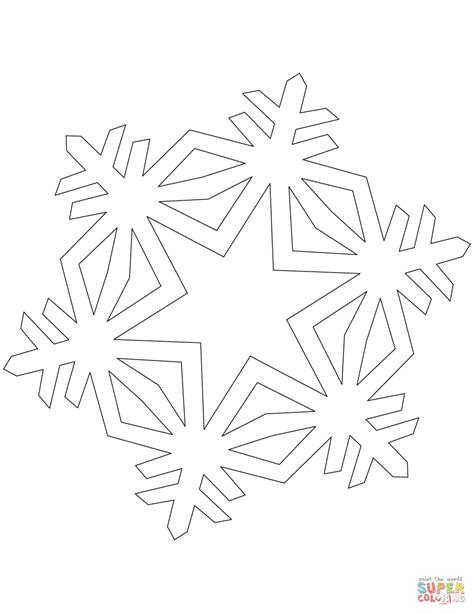 simple snowflake coloring pages simple snowflake coloring page free printable coloring pages