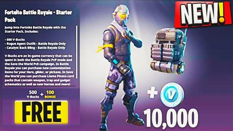 fortnite rogue how to get free quot starter pack quot new rogue skin update