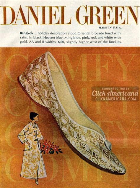 daniel green brocade ballet flats 1963 1964 click americana