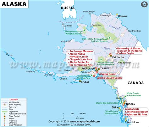 map of the united states with alaska alaska map map of alaska ak